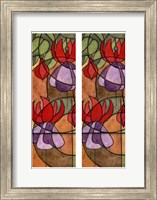 2-Up Stain Glass Floral III Fine-Art Print
