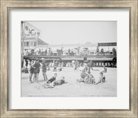 Boardwalk from the beach, Atlantic City, NJ Fine-Art Print