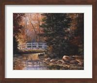 Foot Bridge in the Woods Fine-Art Print