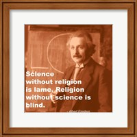 Einstein Science Religion Quote Fine-Art Print