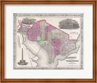 1864 Johnson Map of Washington D.C. and Georgetown Fine-Art Print