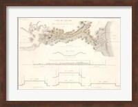 Canal du Cape-Cod Massachusetts, 1834 map Fine-Art Print