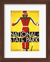 National and state parks, skiing, skating, sliding, sleighing Fine-Art Print