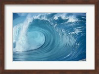 Close-up of waves in the sea in turquoise Fine-Art Print