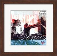 London Stamps - Mini Fine-Art Print