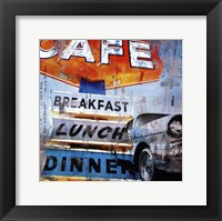 Breakfast Cafe - mini Fine-Art Print