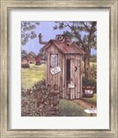 Outhouse - Raccoon Fine-Art Print