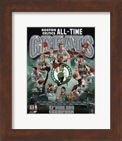 Boston Celtics All Time Greats Composite Fine-Art Print