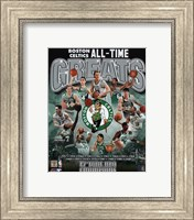 Boston Celtics All Time Greats Composite Fine-Art Print