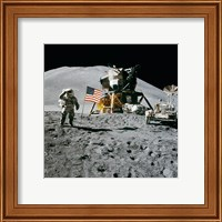 Apollo 15 Lunar Module Pilot James Irwin Salutes the U.S. Flag Fine-Art Print