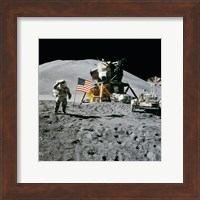 Apollo 15 Lunar Module Pilot James Irwin Salutes the U.S. Flag Fine-Art Print