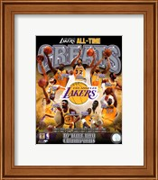 Los Angeles Lakers All Time Greats Composite Fine-Art Print