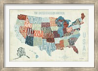USA Modern Blue Fine-Art Print