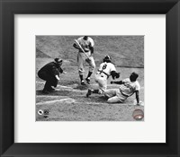 Jackie Robinson steals home during the 1955 World Series Fine-Art Print