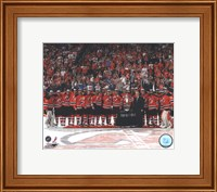 The New Jersey Devils with the Prince of Wales Trophy  after Winning the 2012 NHL Eastern Conference Finals Fine-Art Print