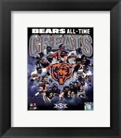 Chicago Bears All-Time Greats Composite Fine-Art Print
