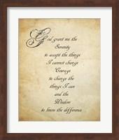 Serenity Prayer - quote Fine-Art Print