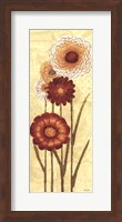 Happy Flowers Neutral Panel I Fine-Art Print