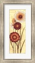 Happy Flowers Neutral Panel I Fine-Art Print