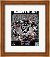Oakland Raiders All Time Greats Composite Fine-Art Print