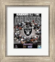 Oakland Raiders All Time Greats Composite Fine-Art Print