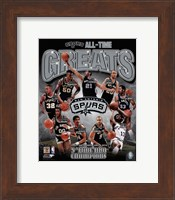 San Antonio Spurs All-Time Greats Composite Fine-Art Print