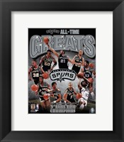 San Antonio Spurs All-Time Greats Composite Fine-Art Print