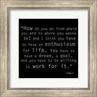Enthusiasm for Life, Jimmy V Quote Fine-Art Print