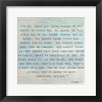 Three Things, Jimmy V Quote Fine-Art Print