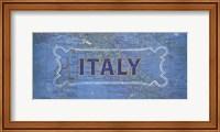 Vintage Sign - Italy Fine-Art Print