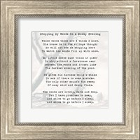 Stopping By Woods On A Snowy Evening - Robert Frost Fine-Art Print