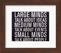 Large Minds - Mini Fine-Art Print