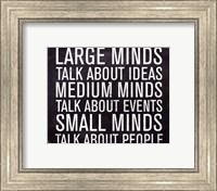 Large Minds - Mini Fine-Art Print