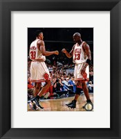 Michael Jordan & Scottie Pippen 1998 Action Fine-Art Print