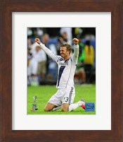 David Beckham Celebrates Winning the 2012 MLS Cup Fine-Art Print