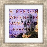 Einstein – Never Made a Mistake Quote Fine-Art Print
