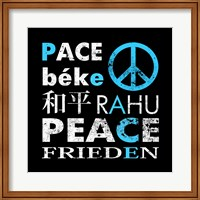 Blue Peace Square I Fine-Art Print