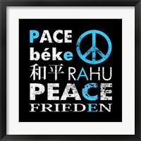 Blue Peace Square I Fine-Art Print