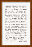 Mother Teresa Quote Fine-Art Print