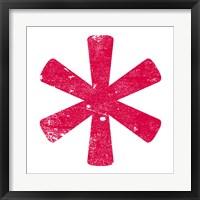 Red Asterisk Fine-Art Print