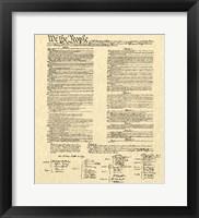 Constitution on Khaki Fine-Art Print