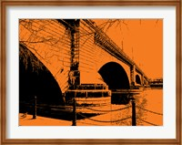 London Bridges on Orange Fine-Art Print