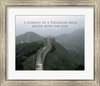 A Journey Of A Thousand Miles Quote Fine-Art Print