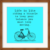 Blue Einstein Bicycle Quote Square Fine-Art Print