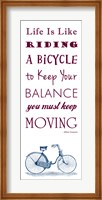 Einstein Bicycle Quote Fine-Art Print