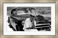Ricardo With His Chevrolet Fine-Art Print