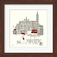 World Cafe I - London Red Fine-Art Print