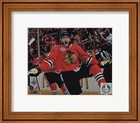 Patrick Kane celebrating first goal Game 5 of the 2013 Stanley Cup Finals Fine-Art Print