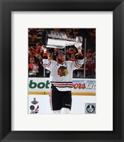 Bryan Bickell with the Stanley Cup Game 6 of the 2013 Stanley Cup Finals Fine-Art Print