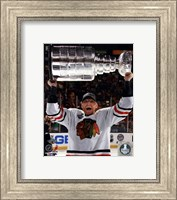 Marian Hossa with the Stanley Cup Game 6 of the 2013 Stanley Cup Finals Fine-Art Print